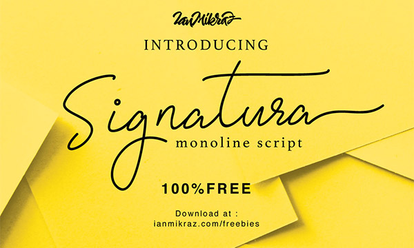 50 Latest Really High Quality Free Fonts for Designers