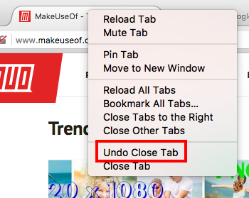 How to Reopen Tabs You've Accidentally Closed in Your Browser